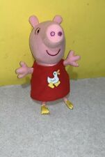 "Peppa Pig Small 8"" Stuffed Plush Doll Jazwares Toy Red Duck Shirt"