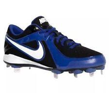 Nike Men's Baseball Shoes Cleats Metal 13 Low MVP Strike Turf Gear Blue Black