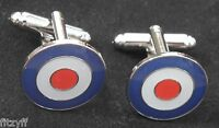 RAF Target Mod Mods Bullseye Shirt Cuff Links Cufflinks
