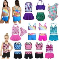 Kids Girls Summer Swimwear Tankini Bikini Set Swimsuit Bathing Suit Beachwear