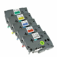 5 Colors Compatible Label Tape For Brother P Touch 12mm Tze231 Tze631 Pt H110