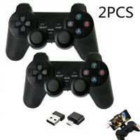 2X Wireless Game Controller 2.4G Gamepad Joystick+Receiver for Android TV Box PC