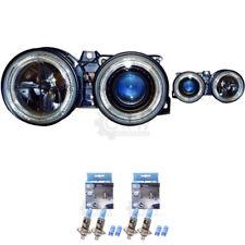Scheinwerfer Set für BMW 3er E30 87-94 klar/schwarz Angel Eyes H1+H1 1366125