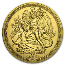 1987 Isle of Man 10 oz Gold Angel BU - SKU#30382