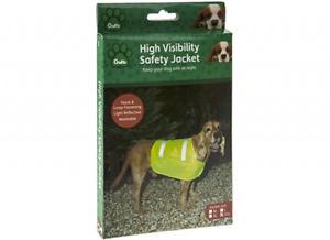 Crufts High Visibility Safey Vest Elastic & Adjustable 4 Sizes M L XL XXL