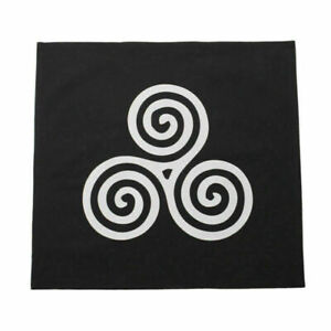 "25.6"" Square Tarot Table Cloth Tarot Cards Tablecloth Black Trisceli"