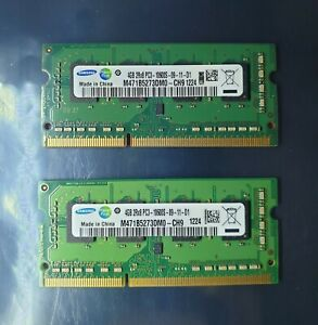 Samsung 8GB 2X4GB DDR3 1RX8 1333MHz PC3-10600S 204pin Laptop Memory RAM