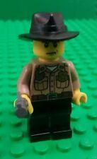 *NEW* Lego Rick Grimes Walking Dead Season 1 Minifigure Figure Gun Black Hat x 1