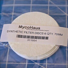 6 synthetic filter discs mushroom cultivation growing 70mm regular mouth