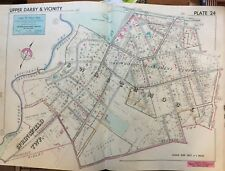1942 Delaware Co Pa Swarthmore Park & College Pres Ch Strath Haven Inn Atlas Map