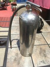 Vintage Water Fire Extinguisher Stainless Steel w/Gauge, Hose, Pin & Hose Clip