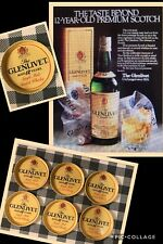 GLENLIVET SCOTCH WHISKY MINI COASTER TRAYS,VINTAGE,