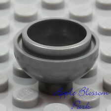 NEW Lego Minifig SILVER GRAY FLOWER POT Kitchen Food Bowl 2 x 2 Round Dome Brick