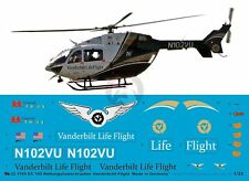Peddinghaus 1/32 EC145 Helicopter Markings N102VU Vanderbilt LifeFlight 1765
