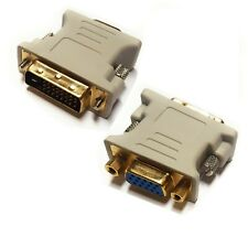 100 Pack DVI-I 24+5 Pin Dual Link Male to VGA Female Adapter Converter Monitor