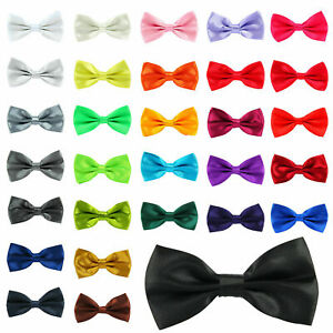 Top Quality Unisex Bow Tie Pre Tied Plain Wedding Bowtie Party Prom Office