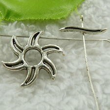 free ship 100 sets tibet silver sun clasp 20x3`22x22mm #3778
