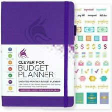Financial Planner Organizer Budget Book Monthly Expense Tracker Notebook Purple