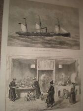 Un ristorante a Kashgar Cina 1874 old print ref G