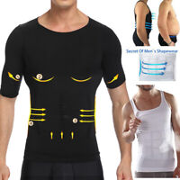 Men Slimming Body Shaper Abdomen Compression Shirt Tops Posture Corrector Vest