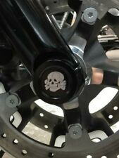 Boosted Brads Skull Front Axle Caps for Harley Davidson