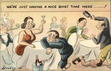 Dooley - Drunken Fighting in Restaurant Postcard