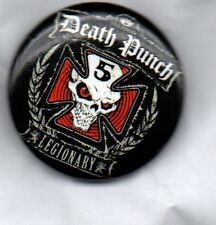 FIVE FINGER DEATH PUNCH BUTTON BADGE AMERICAN HEAVY METAL BAND - 5FDP 25mm PIN