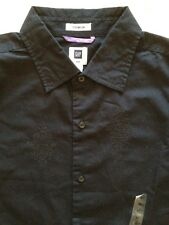 Gap Premium Shirt. Fitted. M. NWT.$35. Black/Embroidered