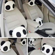2pcs Panda Pattern Car Seat Neck / Head Pillow Soft Back Cushion Headrest FW