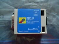 MTCV-10 10-BASE-T MICRO TRANSCEIVER IEEE 802.3 MADE IN USA.