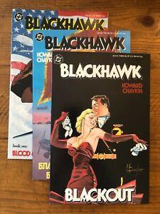 Blackhawk 1,2,3 DC Comics Howard Chaykin 1988 full set lot NM