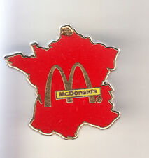 RARE PINS PIN'S .. MC DONALD'S RESTAURANT CARTE MAP FRANCE ROUGE & OR ~16