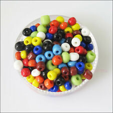250 Charms Solid Color Tiny Seed Round Glass Spacer Beads Mixed 4mm