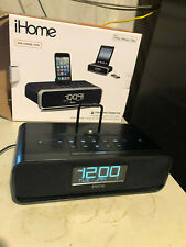 iHome Idl91 Stereo FM Clock Radio W/ Lightning Dock Near MINT