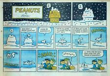Peanuts by Charles Schulz - large half-page color Sunday comic - Dec. 31, 1961