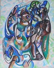 Australian abstract acrylic painting on canvas  by Yuri Stepanuk. 80x100cm 1993