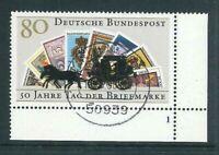 BRD Mi-Nr. 1300 Ecke 4 - Formnummer 1 - Vollstempel - zentrisch gestempelt
