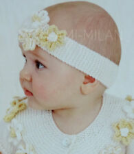 KNITTING PATTERN How To Make a BABIES FLORAL HEADBAND Baby Toddlers ALICE BAND