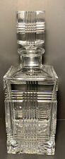 Ralph Lauren Glen Plaid Crystal Decanter 25 Ounces New in the Original Box