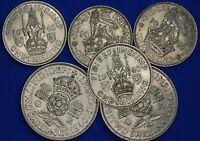 1940 1941 George VI shillings & Two shillings, English Scottish [21974]