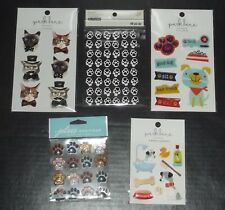 Mixed Lot of 19  Dog/Cat Themed Dimensional Sticker Packs