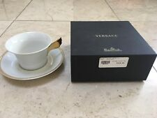 NEW Authentic VERSACE MEDUSA ROSENTHAL WHITE D'OR COFFEE TEA CUP SAUCER SET  AG
