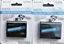 LOT OF 2 BLUE SKY EMERGENCY DISPOSABLE CHARGERS FOR iPHONE LIGHTNING COMPATABLE