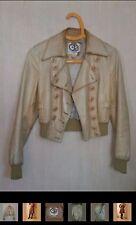 Veste cuir T36 RARE 1970 jupe vintage, robe, escaprins cuir, santiags, bottes