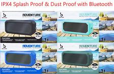 Adventure IPX4 Dustproof Water Splash Proof Wireless Bluetooth Speaker w/ Li-ion