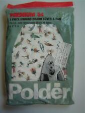 Vtg Polder 1 Piece Ironing Board Cover & Pad Gone Fishing Lures Unused Unopened