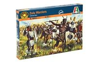 ITALERI 6051 1/72 Zulu Warriors 48 Unpainted Plastic Figures FREE SHIP
