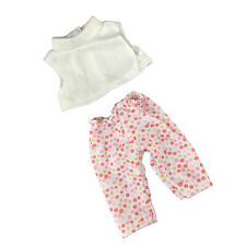White Crop Top Floral Pants for 14 inch AG American Doll Dolls Clothes