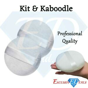 2 x Make Up Powder Puffs High Quality With RibbonBy Kit & Kaboodle