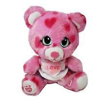 BUILD A BEAR SMALLFRYS PINK W/ RED HEARTS & OUTFIT BABW STUFFED ANIMAL PLUSH TOY